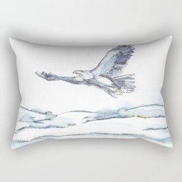 Flying Eagle, Hudson Valley (center) Rectangular Pillow
