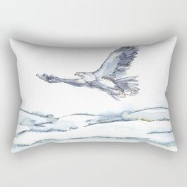 Flying Eagle, Hudson Valley (center) Rectangular Pillow
