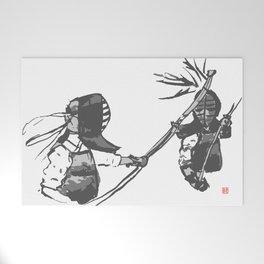 Naginata Sumi-E by Takemi Welcome Mat