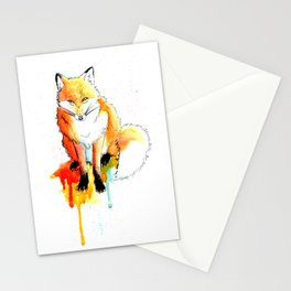 Watercolor Fox Stationery Cards