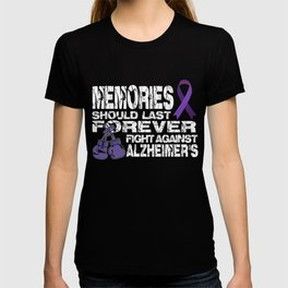 Alzheimers T-Shirt Funny Fight Against Alzheimers Apparel T-shirt