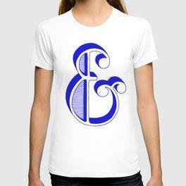 Blue Ampersand T-shirt