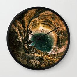 Earth Space Wall Clock
