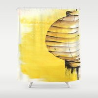 lantern Shower Curtains featuring Lantern by Emma Stein