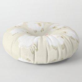 Herd of sheep Floor Pillow