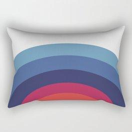 Retro Sunset Wave Vibes Rectangular Pillow