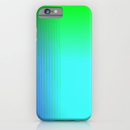 Cyan Green Purple Red Blue Black ombre rows and column texture iPhone Case