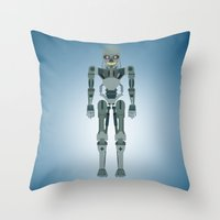 terminator Throw Pillows featuring Terminator Vector by TIERRAdesigner