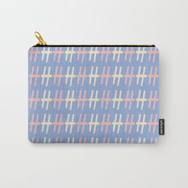 Upper Case Letter H Pattern Carry-All Pouch