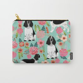 English Springer Spaniel dog breed florals dog gifts for dog lovers dog breeds Carry-All Pouch