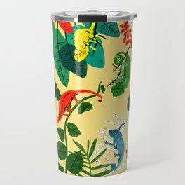 Nine Chameleons Hiding in the Tropics Travel Mug