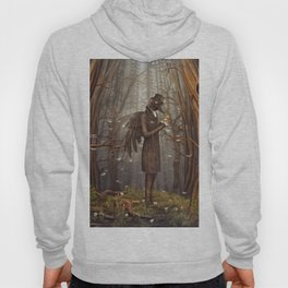 Raven in forest Hoody