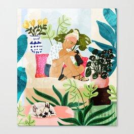 Miss Blogger Canvas Print