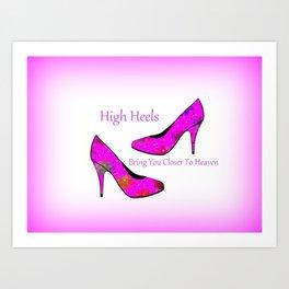 High Heel Heaven Art Print