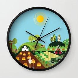 Valley farm Wall Clock