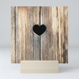 Heart in Wood Mini Art Print