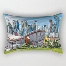 Downtown Calgary Skyline Rectangular Pillow