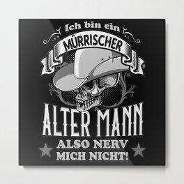 Ein mürrischer alter Mann Metal Print