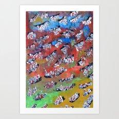 Rainbow Fall Art Print