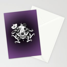The Skull the Flowers and the Snail Stationery Cards