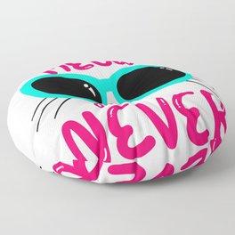 It's now or never in cat language Floor Pillow