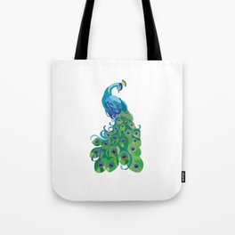 Peacock illustration Tote Bag