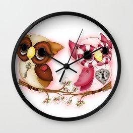 So In Love Hooties - Owl iPhone Case Wall Clock