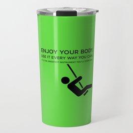 Sunscreen / Enjoy your body Travel Mug