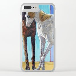 Paisley Paws de Deux Clear iPhone Case