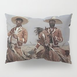 """Frederic Remington Western Art """"Mexican Riders"""" Pillow Sham"""