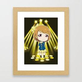Love Live! - Hanayo Koizumi (chibi edit) Framed Art Print