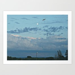 sighting in the blue Art Print