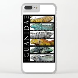 Iguanas of the World Clear iPhone Case