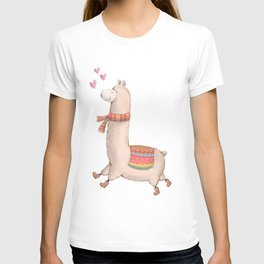 Happy Chubby Llama T-shirt