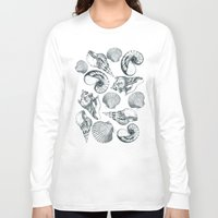 shells Long Sleeve T-shirts featuring shells by sustici