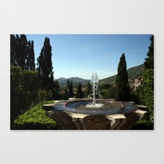 A Tivoli Fountain Canvas Print