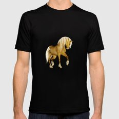 HORSE - Palomino Mens Fitted Tee Black MEDIUM