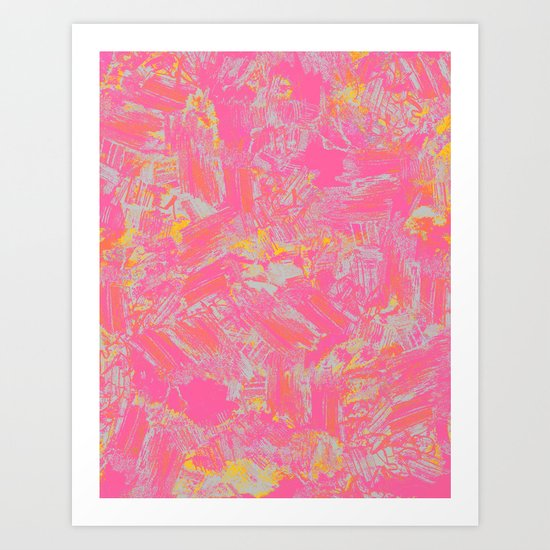 Pink & Yellow Art Print