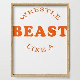 Wrestling Gift Sport Wrestling Wrestler Catchen Serving Tray