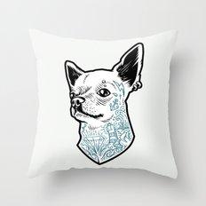 Tattooed Chihuahua Throw Pillow