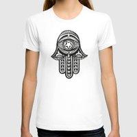 hamsa T-shirts featuring Hamsa by ArikaDoe