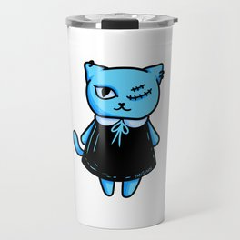 Cat Gothic occult witch girl gift Travel Mug