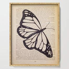 Butterfly in a Book Serving Tray