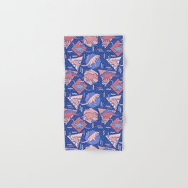 Nineties Dinosaurs Pattern  - Rose Quartz and Serenity version Hand & Bath Towel