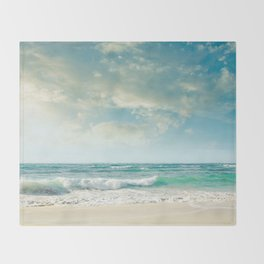 beach love tropical island paradise Throw Blanket