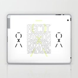 ASCII Ribbon Campaign against HTML in Mail and News – White Laptop & iPad Skin