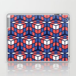 cascade - red/white/blue Laptop & iPad Skin