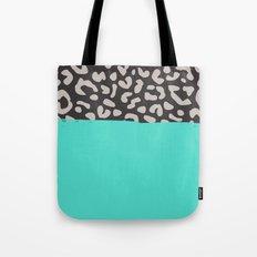 Colorblock Leopard Tote Bag