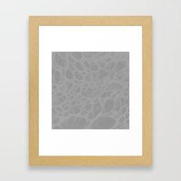 Pattern SPOTS Grey Framed Art Print