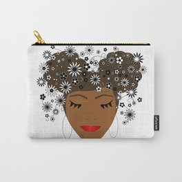 African American Flower Goddess Carry-All Pouch